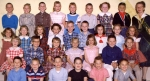 Allen, First Grade, with Miss Merle Lilja  Top row: Mike _, Lindeen Rice, Steven Mathers, Shanna Zimmerman, Pamela _, Ne